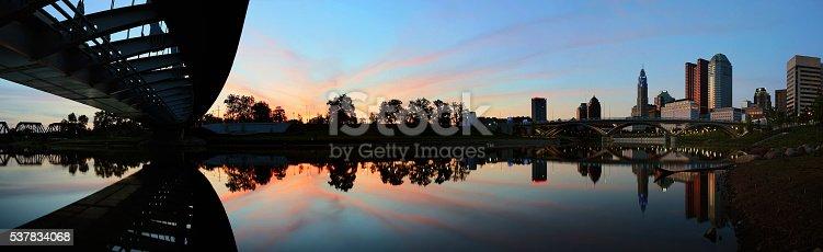 1024248138istockphoto Panoramic of downtown Columbus Ohio at dusk 537834068