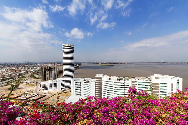 Panoramic of Guayaquil stock photo