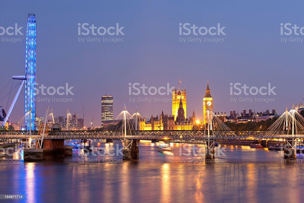 Panoramic of London stock photo