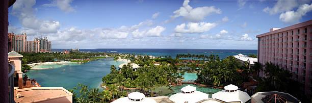 Panoramic of Luxury Resort - 6156x2036 stock photo