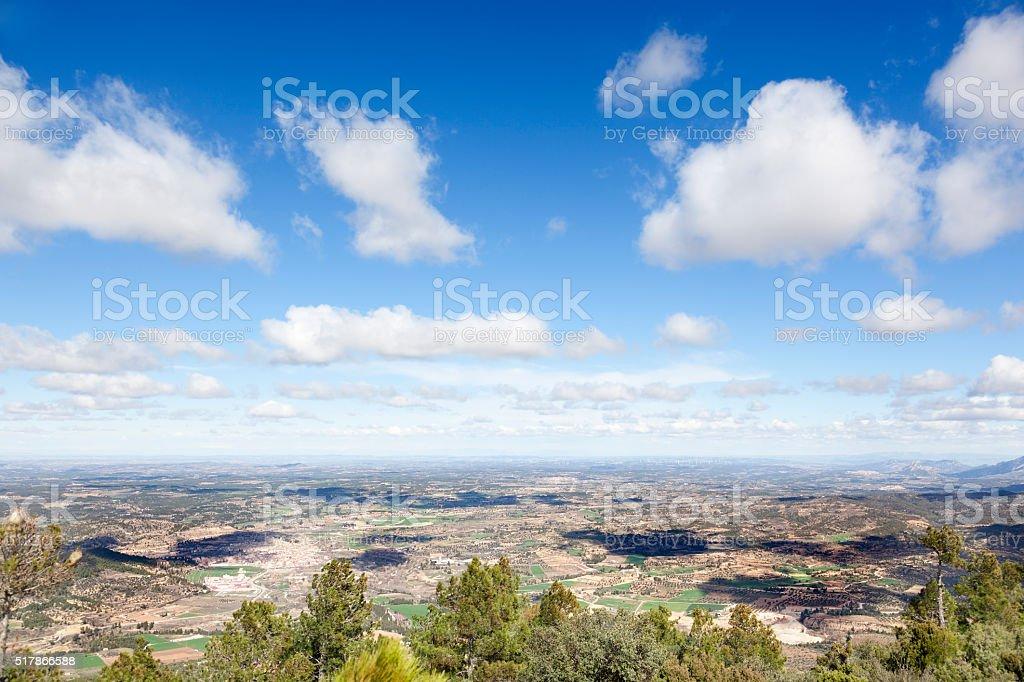 Panoramic of Matarranya stock photo