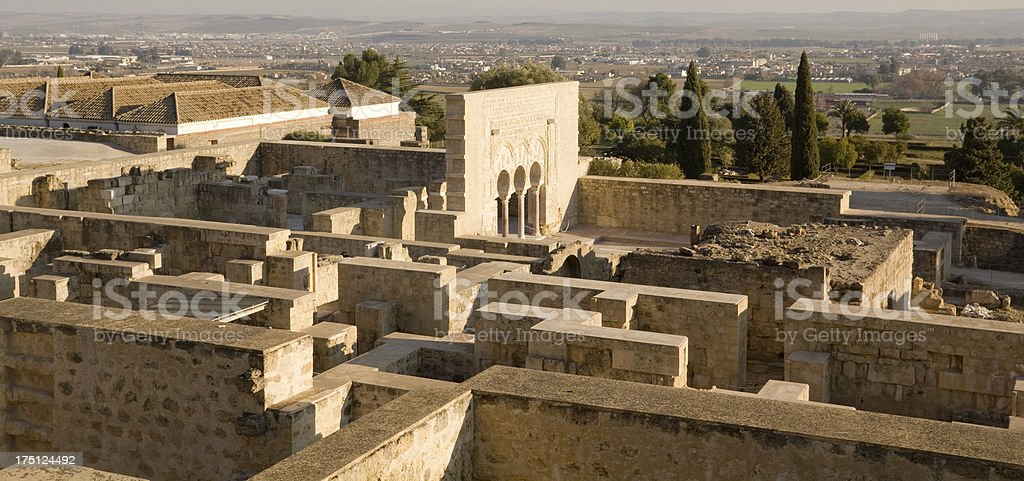 Panoramic of Medina Azahara. Cordoba. stock photo