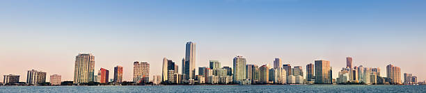 Panoramic of Miami stock photo