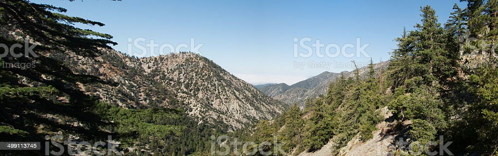 Panoramic of Mt. Baldy stock photo
