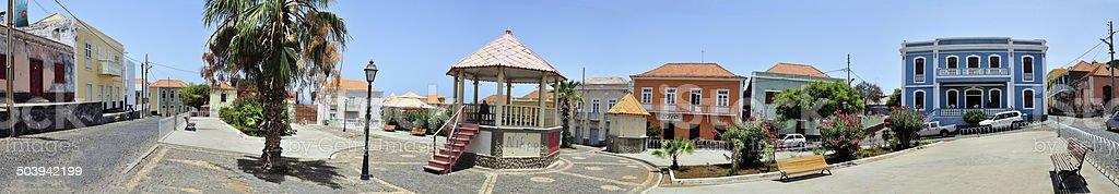 Panoramic of Municipal Plaza iun Sao Silipe stock photo