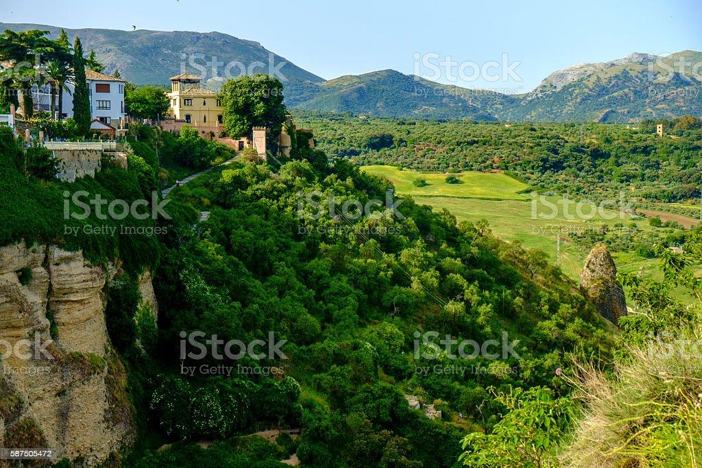 Panoramic of Ronda, stock photo