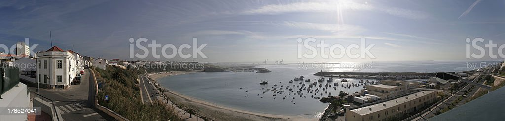 Panoramic of Sines, Portugal royalty-free stock photo