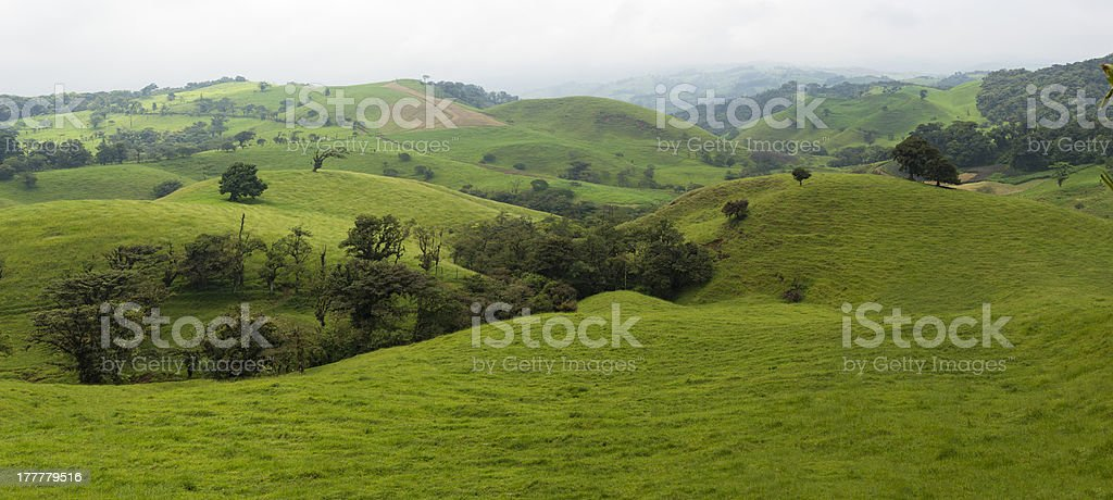 Panoramic of the Costa Rica Countryside stock photo