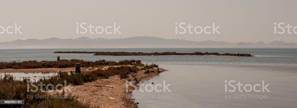 Panoramic of the Mar Menor of Murcia. Spain royalty-free stock photo