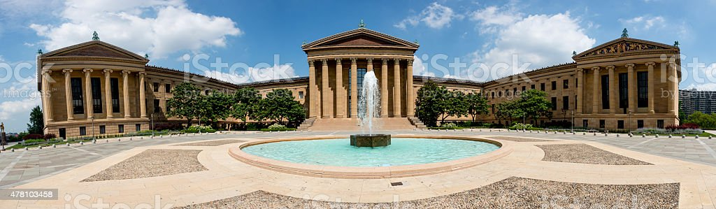 XXXL: Panoramic of the Philadelphia Museum of Art stock photo