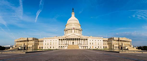 Panoramic of US Capitol Building in Washington DC -XXXL stock photo