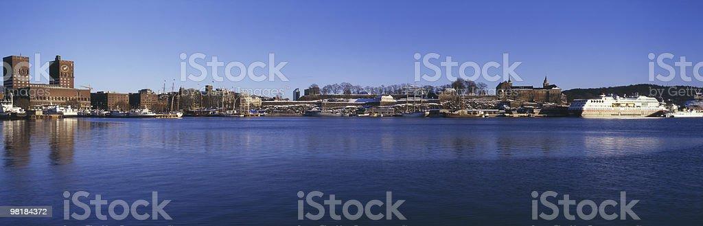 Panoramic Oslo royalty-free stock photo