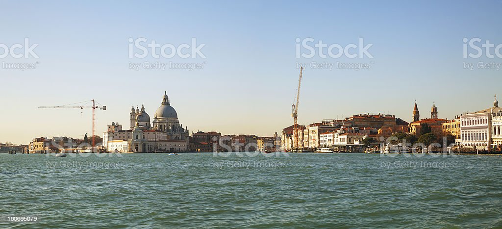 Panoramic overview of Venice stock photo