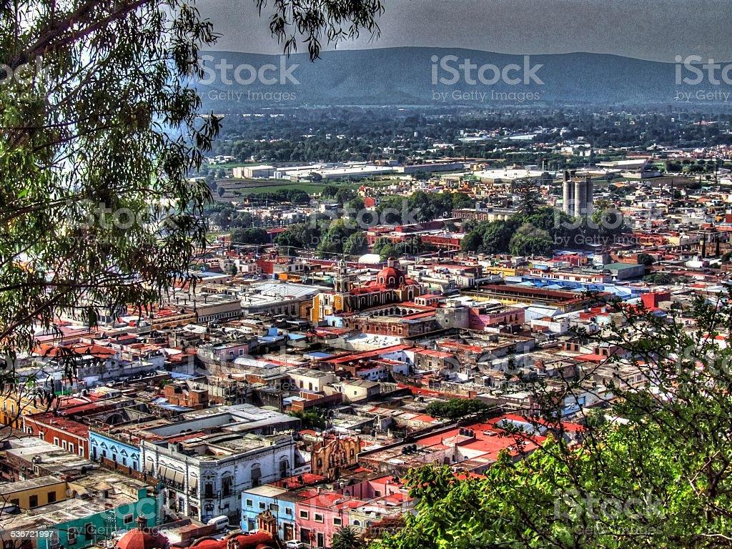 Foto panorámica de las ciudades y pueblos de México Atlixco Puebla - foto de stock