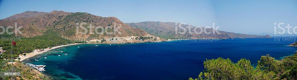 Panoramic photo of Aktur - Royalty-free Aegean Sea Stock Photo