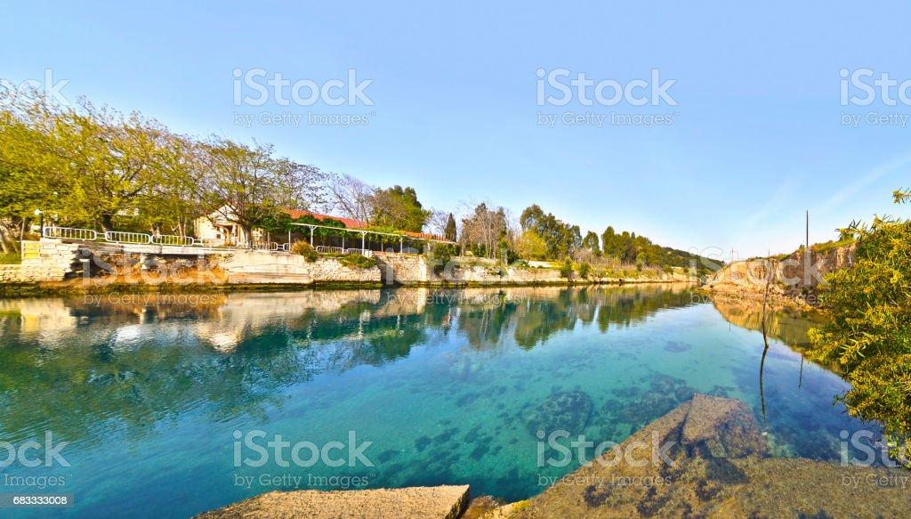 photo panoramique du canal de Corinthe Grèce photo libre de droits