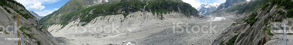 Panoramic picture of a French glacier​​​ foto