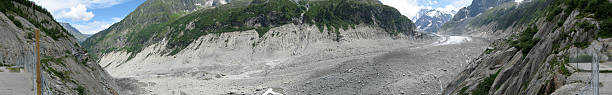 panoramic picture of a french glacier - fsachs78 stockfoto's en -beelden