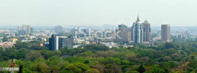 panoramic view of Bangalore city scape