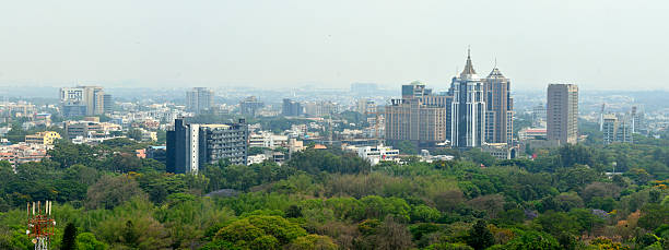 Panoramic picture of Bangalore skyline panoramic view of Bangalore city scape bangalore stock pictures, royalty-free photos & images
