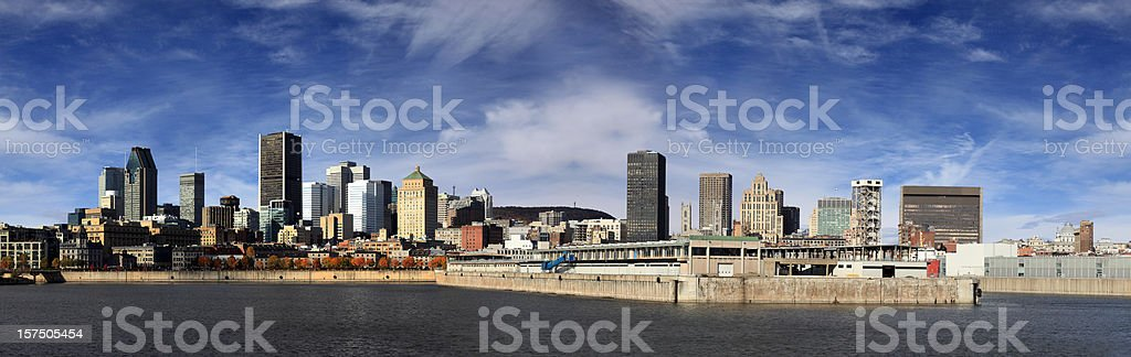 Panoramic picture of Montreal cityscape royalty-free stock photo