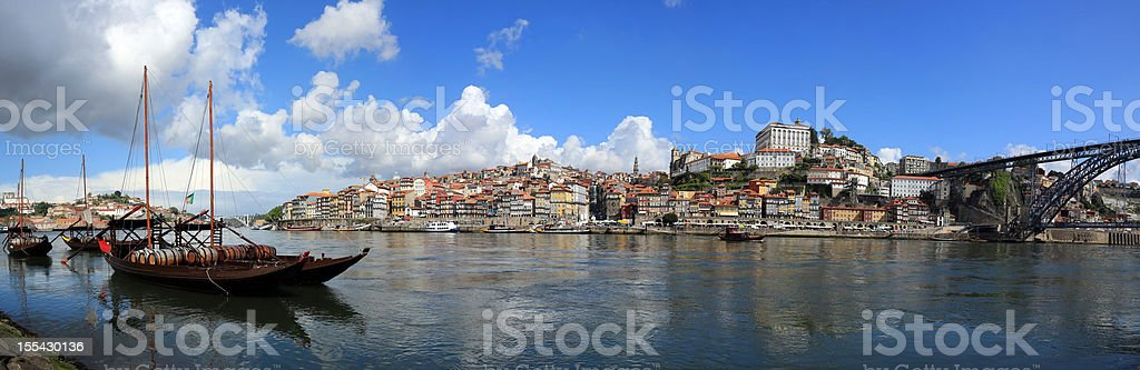 Panoramic picture of Porto in the morning, Portugal royalty-free stock photo