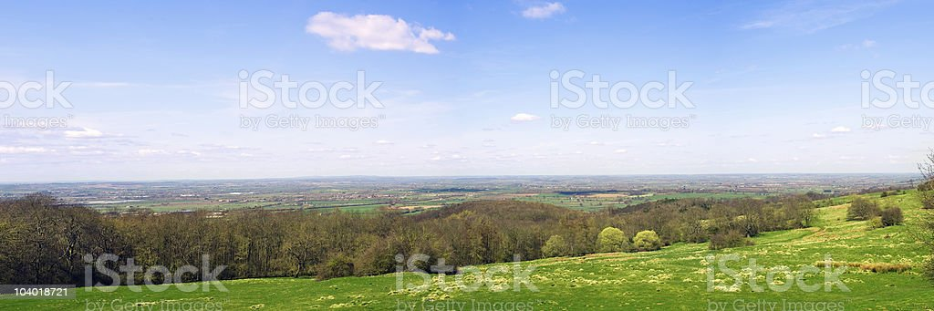 Panoramic Picturesque Countryside stock photo
