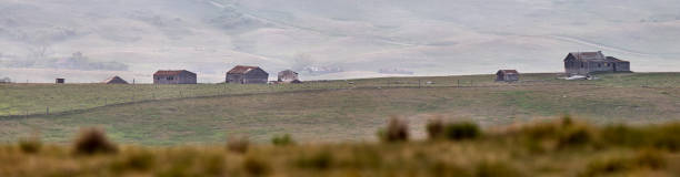 Panoramic Prairie View stock photo