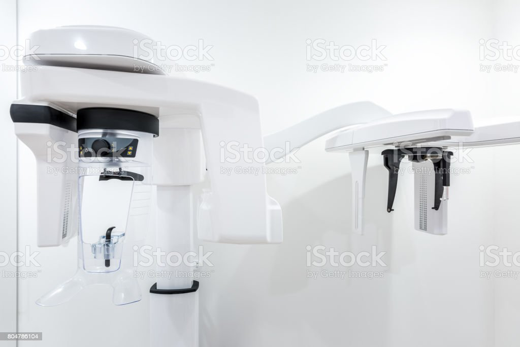 Panoramic radiography machine stock photo