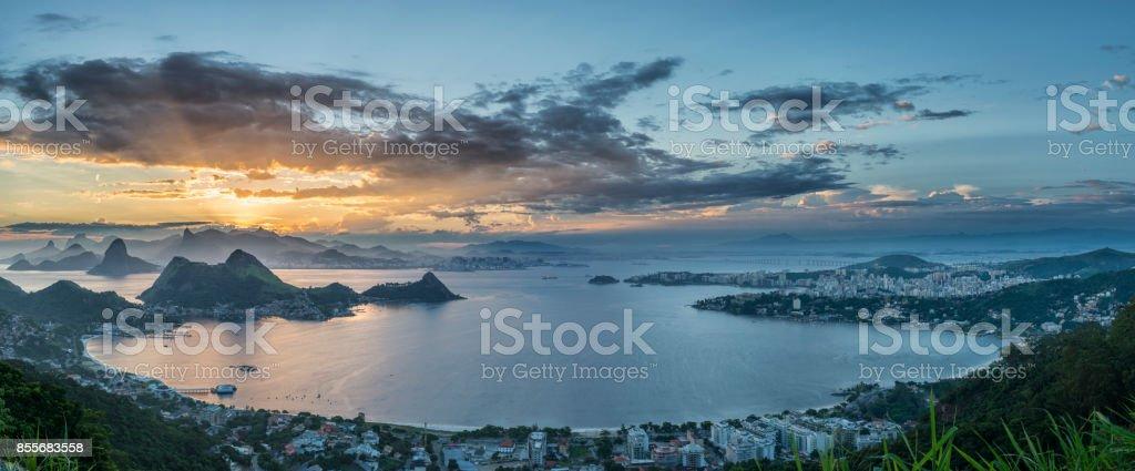 Panoramic Rio de Janeiro Niteroi Parque da Cidade stock photo