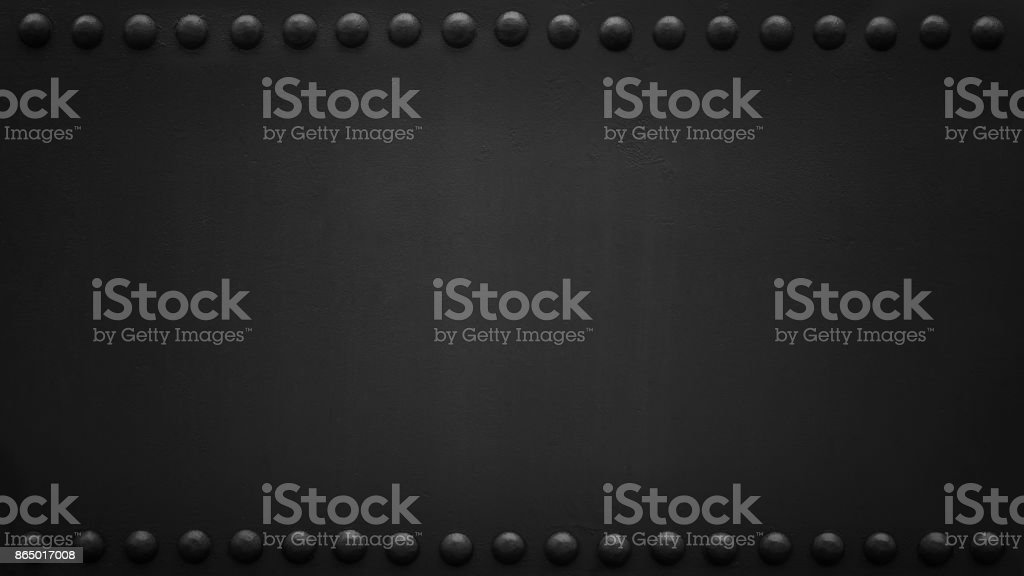 panoramic riveted black plate 2 stock photo