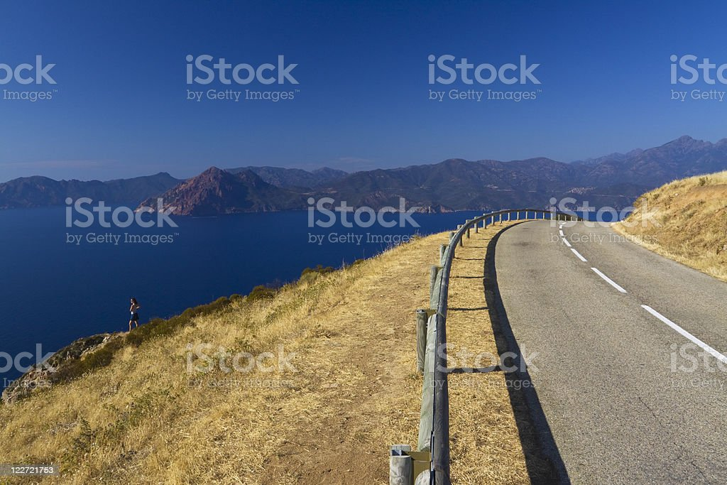 panoramic road royalty-free stock photo