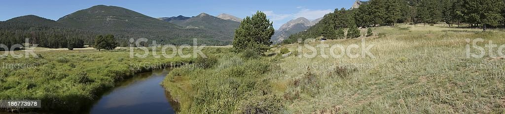 Panoramic, Rocky Mountain National park royalty-free stock photo