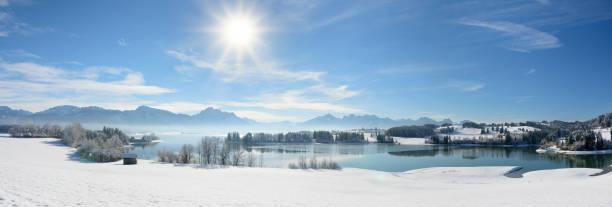 Panoramaszene im Winter in Bayern, Deutschland – Foto
