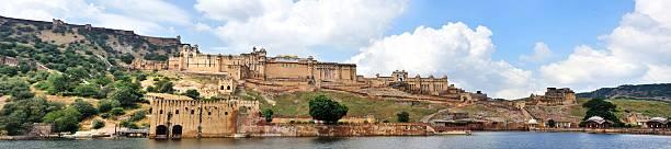 panoramic scenery of Amber fort in Jaipur stock photo