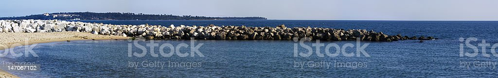 panoramic sea wiew royalty-free stock photo