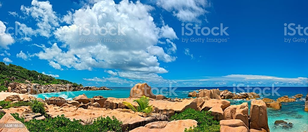 Panoramic seascape view royalty-free stock photo