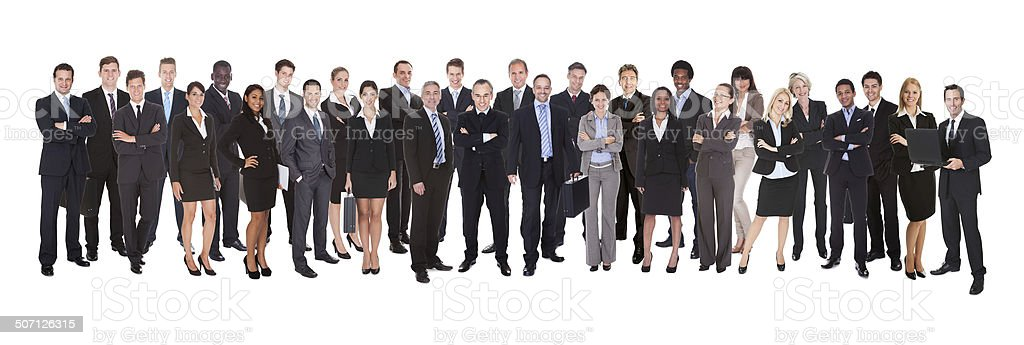 Panoramic Shot Of Confident Businesspeople stock photo
