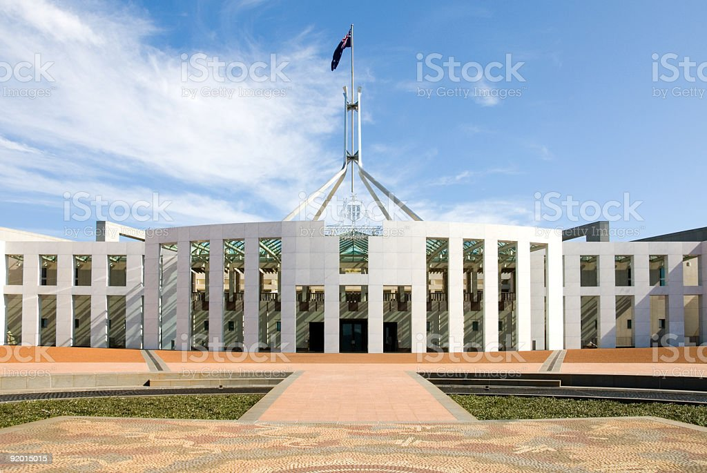 Panoramic shot of Parliament house stock photo