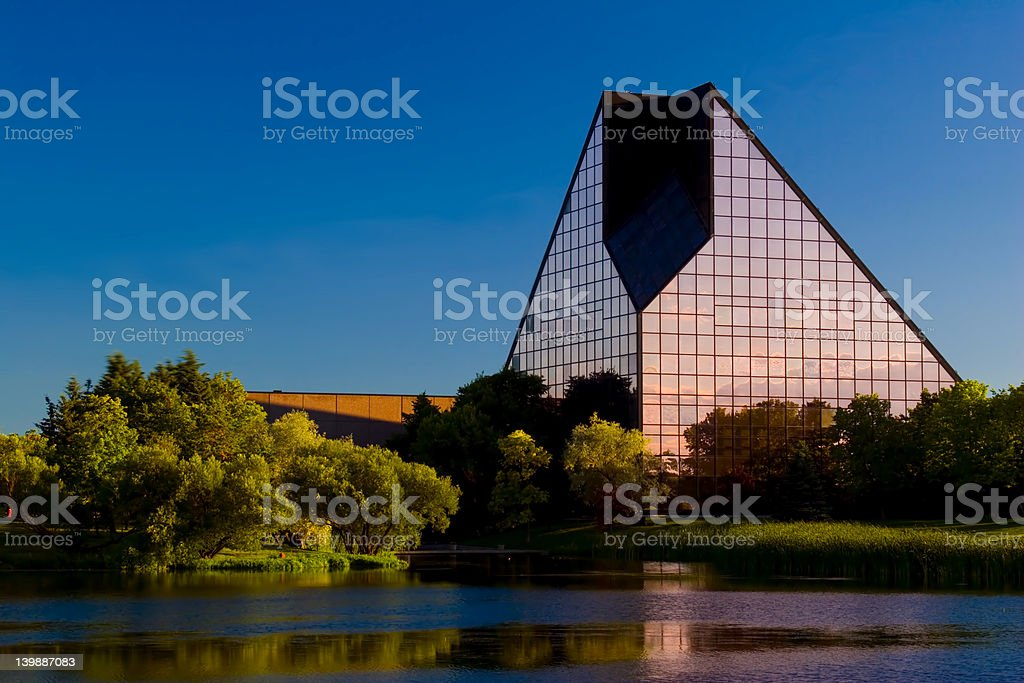 Panoramic shot of the Royal Canadian Mint royalty-free stock photo