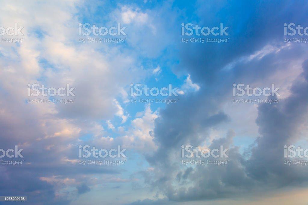 Panoramic shot of the sky stock photo