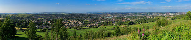 Panoramic shot of the west of Bradford and city centre stock photo