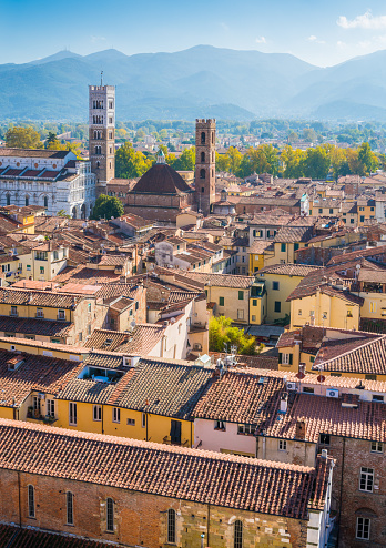 istock Panoramic sight in Lucca, with the Duomo of San Martino. Tuscany, Italy. 1098053606