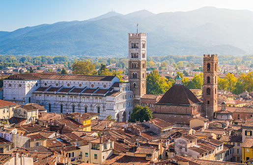 istock Panoramic sight in Lucca, with the Duomo of San Martino. Tuscany, Italy. 1098053644