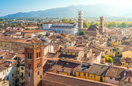 istock Panoramic sight in Lucca, with the Duomo of San Martino. Tuscany, Italy. 1098054782