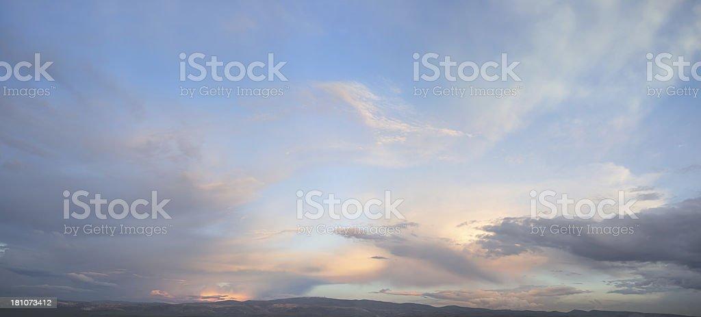 Panoramic Sky royalty-free stock photo