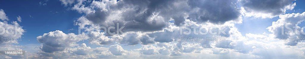panoramic sky stock photo