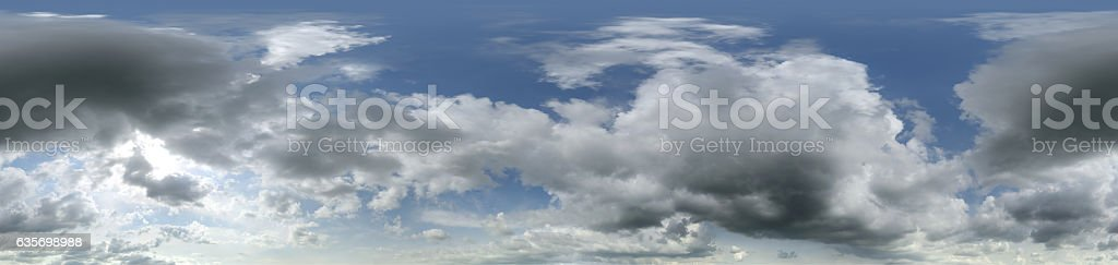 Panoramic sky with clouds royalty-free stock photo