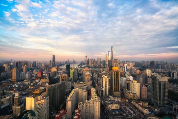 Panorama-Skyline von Shanghai – Foto