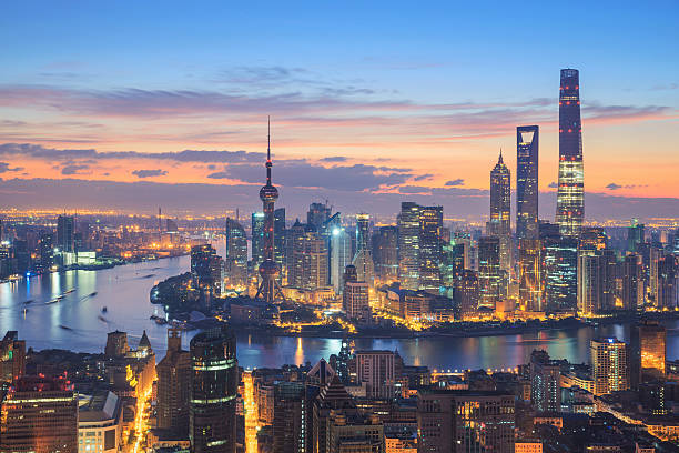 Royalty free shanghai skyline pictures images and stock photos istock - Shanghai skyline wallpaper ...